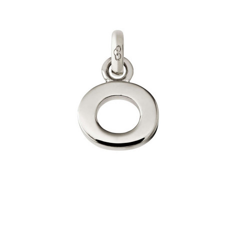Sterling Silver 'O' Charm, ${color}