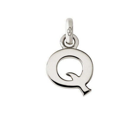 Sterling Silver 'Q' Charm, ${color}