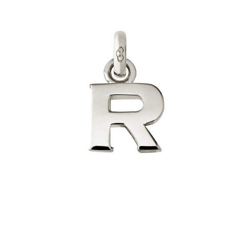 Sterling Silver 'R' Charm, ${color}