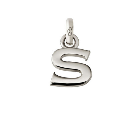 Sterling Silver 'S' Charm, ${color}