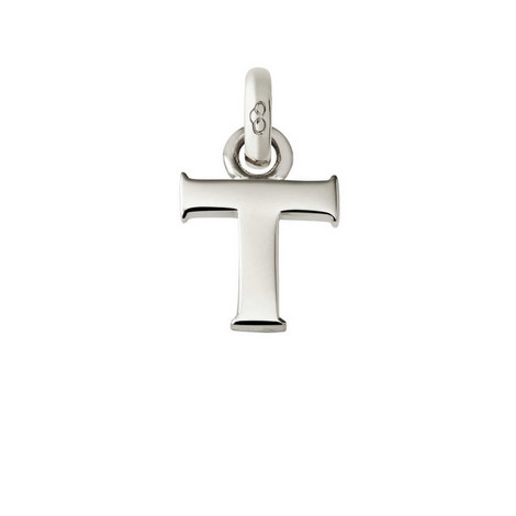 Sterling Silver 'T' Charm, ${color}
