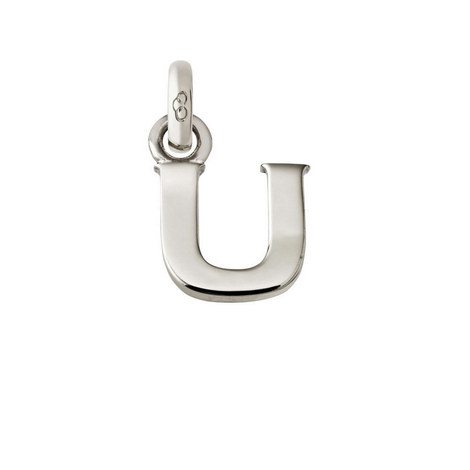 Sterling Silver 'U' Charm, ${color}