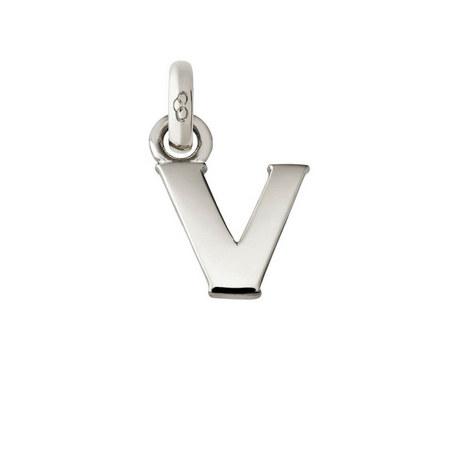 Sterling Silver 'V' Charm, ${color}