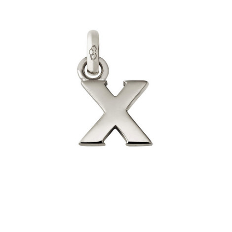 Sterling Silver 'X' Charm, ${color}