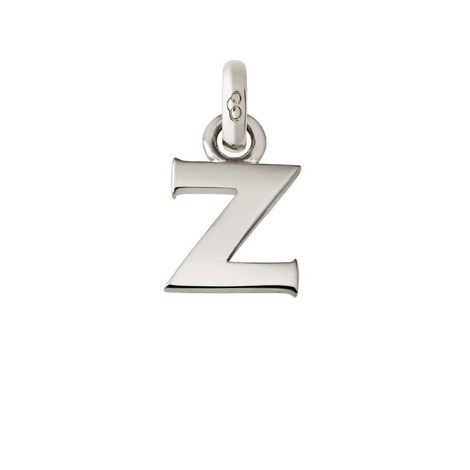 Sterling Silver 'Z' Charm, ${color}