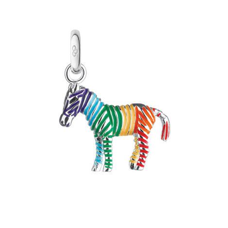 Rainbow Zebra Charm, ${color}