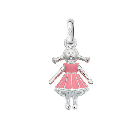 Silver Rag Doll Charm, ${color}