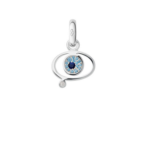 Evil Eye Gemstone Charm, ${color}