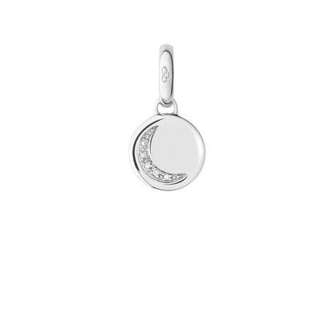 Diamond Crescent Moon Charm, ${color}