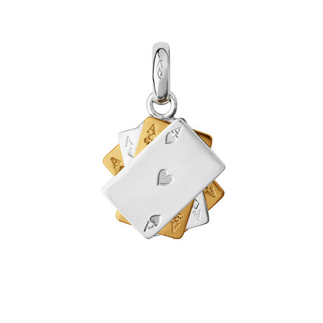 Two-Tone Poker Cards Charm, ${color}