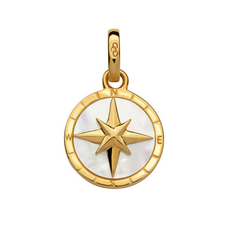 Mother of Pearl Compass Charm, ${color}
