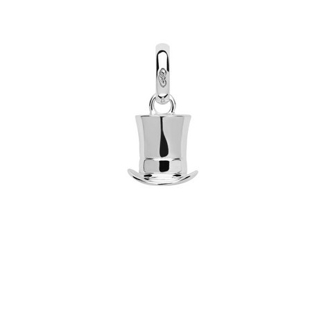 Ascot Silver Top Hat Charm, ${color}