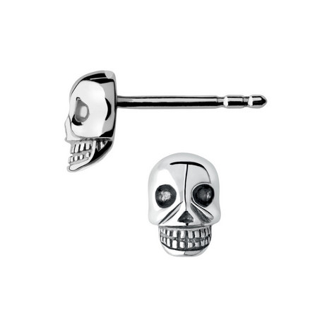 Mini Skull Stud Earrings, ${color}