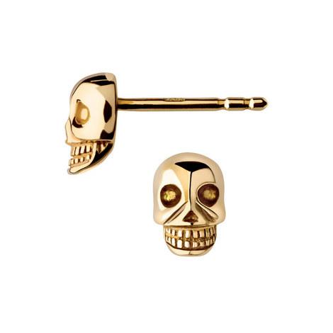 Mini Skull Stud Earrings, ${color}