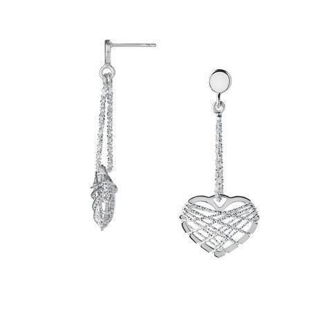 Dreamcatcher Heart Earrings, ${color}