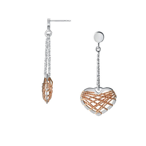 Dream Catcher Heart Drop Earrings, ${color}