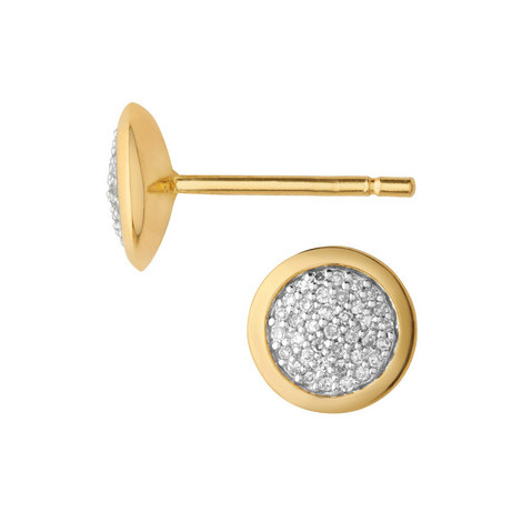 Diamond Essentials Pavé Earrings, ${color}