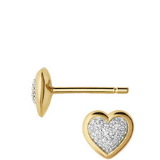 Diamond Essentials Pavé Heart Earrings