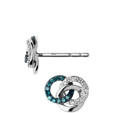Treasured Silver & Diamond Stud Earrings