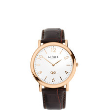 Noble Slim Leather Watch