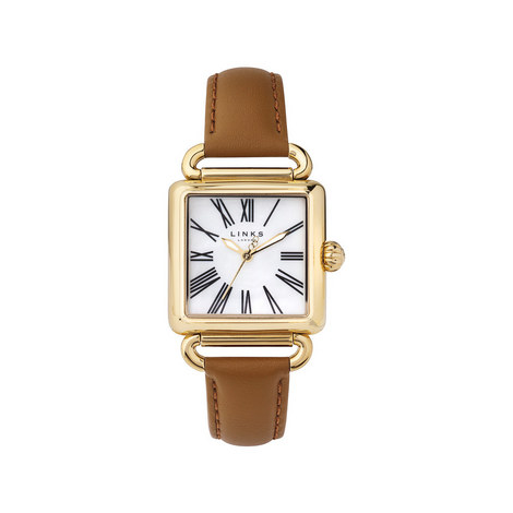 Driver Pearl Leather Watch, ${color}