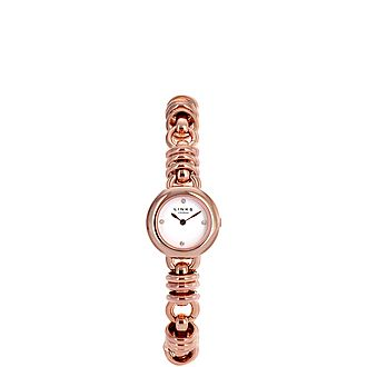 Sweetie Rose Gold Plate Bracelet Watch