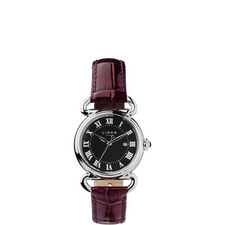 Driver Round Leather Watch