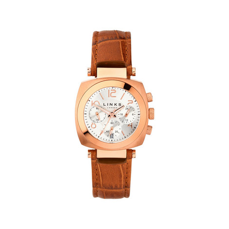Brompton Leather Chronograph Watch, ${color}