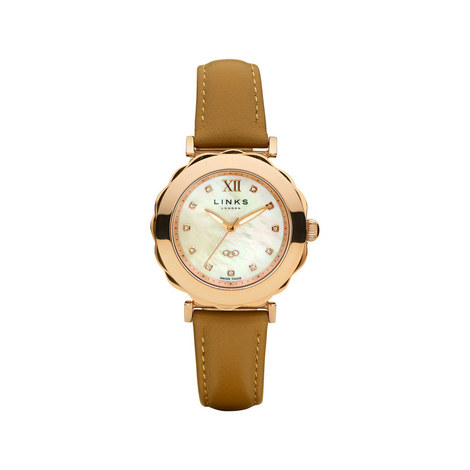 Windermere Stainless Steel Tan Watch, ${color}