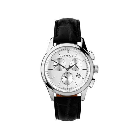 Regent Chronograph Leather Watch, ${color}