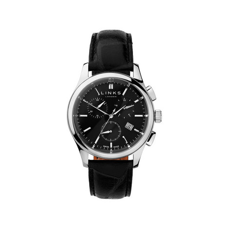 Regent Leather Dial Watch, ${color}