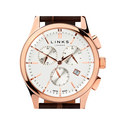 Regent Chronograph Leather Watch, ${color}