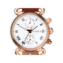 Driver Chronograph Leather Watch, ${color}