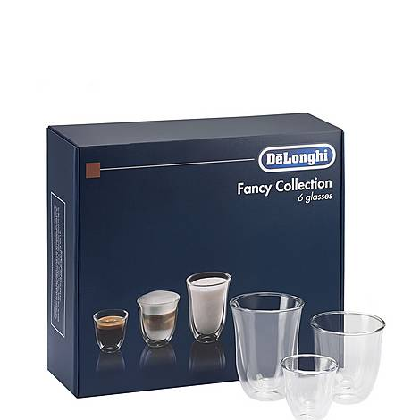 Set of 6 Fancy Collection Coffee Glasses, ${color}