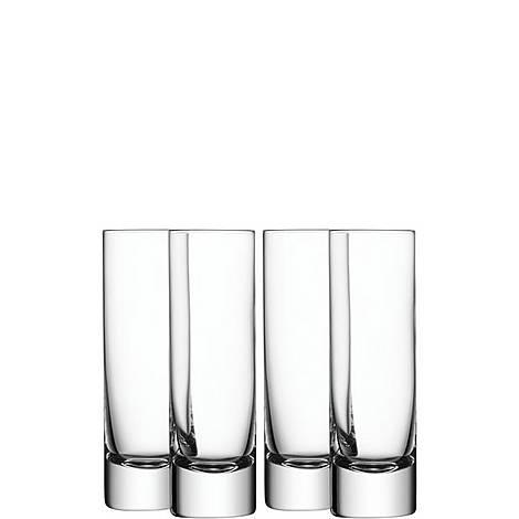 Bar Long Drink Glass Set of 4, ${color}
