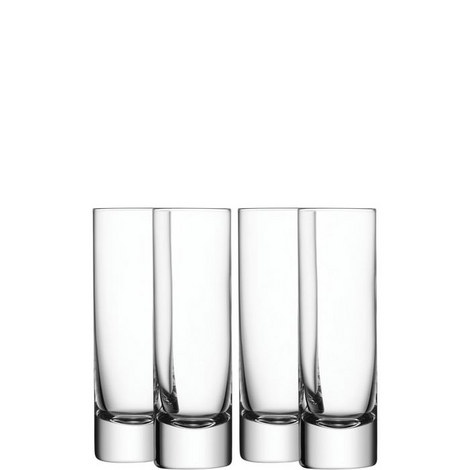 Bar Long Drink Glass Set of 4, ${color}