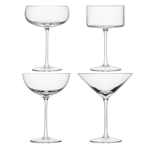 Lulu Assorted Champagne Coupes Set of 4, ${color}