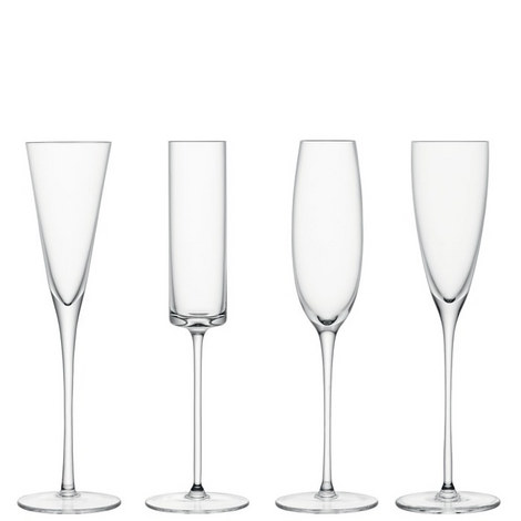 Lulu Assorted Champagne Flutes Set of 4, ${color}