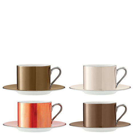 Polka Teacup Set of 4, ${color}