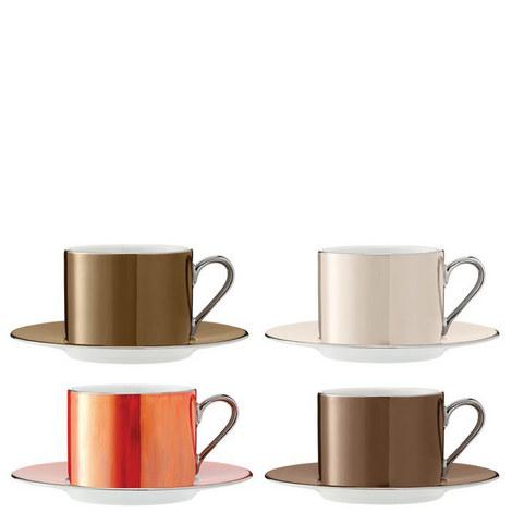 Polka Teacup Set of 4, ${color}