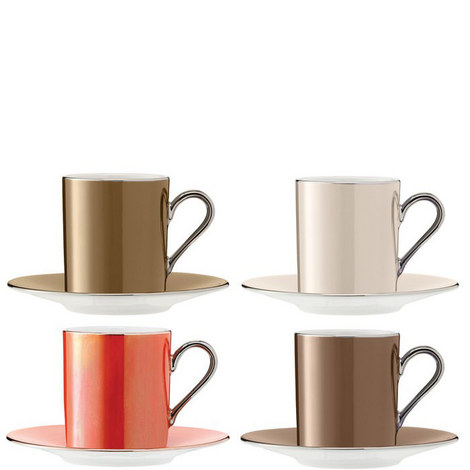 Polka Coffee Cup Set of 4, ${color}