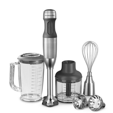 5-Speed Hand Blender - Steel, ${color}
