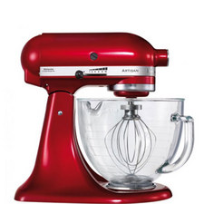 Artisan Mixer with Glass Bowl-Candy Apple
