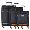 NCS Caphir 3-Piece Spinner Luggage Set, ${color}