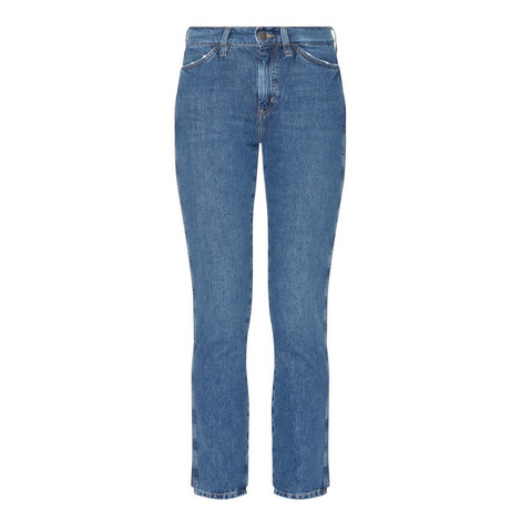 Cult High-Waist Straight Jeans, ${color}
