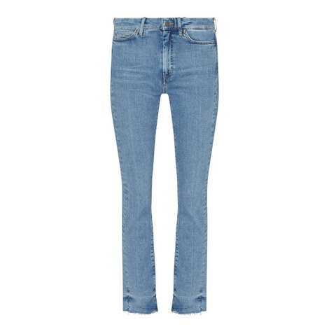 Daily Raw Hem Jeans, ${color}