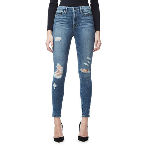 Good Waist Distressed Skinny Jeans, ${color}