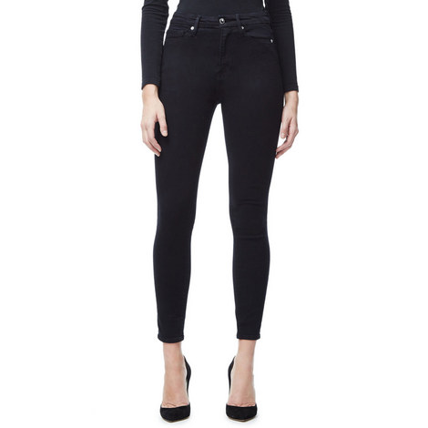 Good Waist Black Cropped Jeans, ${color}