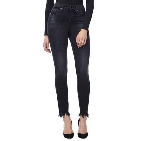 Good Waist Frayed Edge Jeans, ${color}
