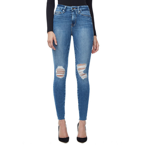 Good Waist Raw Edge Jeans, ${color}